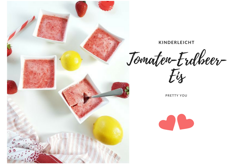 Tomaten-Erdbeer-Eis für Kinder
