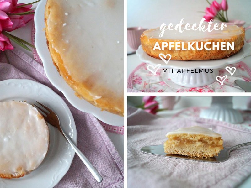 Schneller gedeckter Apfelkuchen zur Kaffeezeit