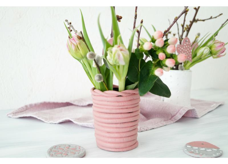 diy vasen und anh nger aus modelliermasse pretty you. Black Bedroom Furniture Sets. Home Design Ideas