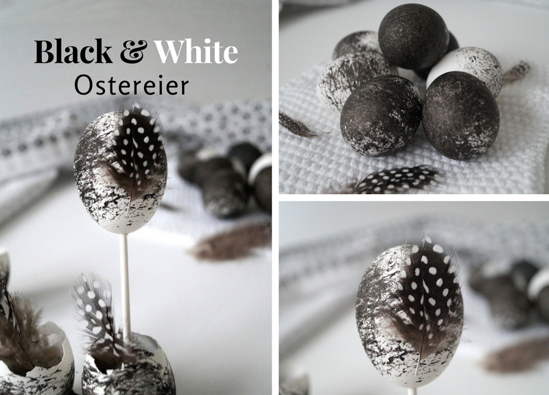 black white schwarz wei e ostereier mit reis f rben pretty you. Black Bedroom Furniture Sets. Home Design Ideas