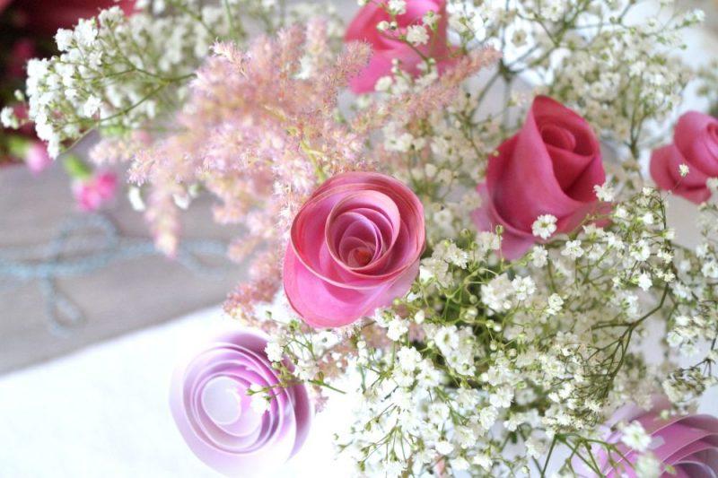 Rosen aus Papier basteln
