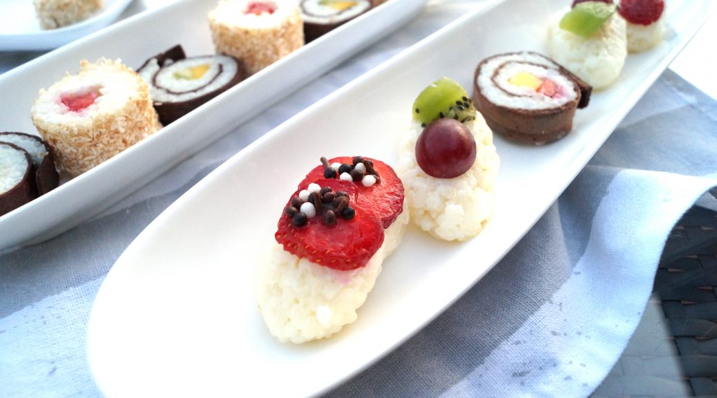 Süßes Sushi Dessert