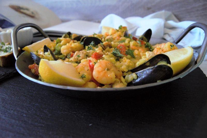 Paella kochen Länderküche Thalia