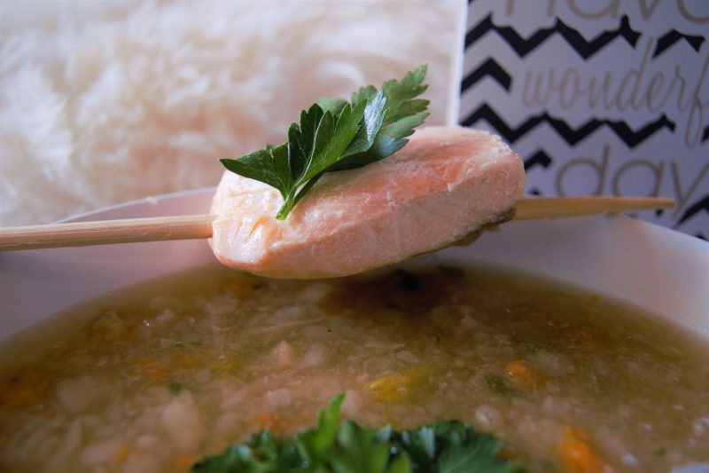 Kohlrabisuppe mit Lachs - Null Punkte Suppe Weight Watchers