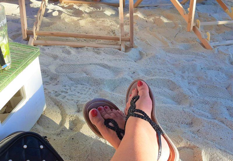 gepflegte Füße im Sommer Scholl Fußmaske