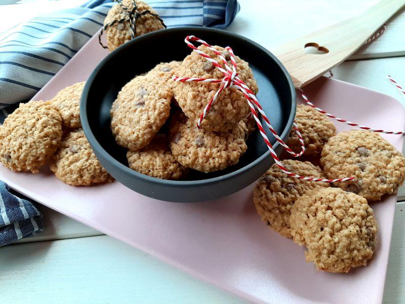 Weihnachtliche Haferflocken Cookies